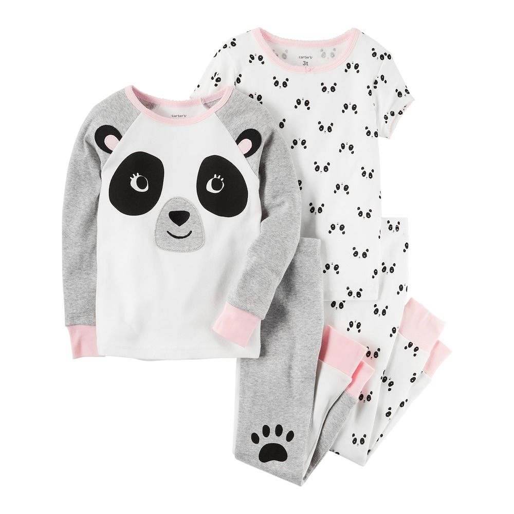 6157b52e6 Girls 4-14 Carter s Panda Tops   Bottoms Pajama Set en 2019