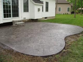 Gabriel Masonry Contractors Inc Concrete Patio Fire Pit Seating Area Poured Concrete Patio