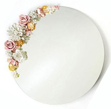 DYI Mirror overall - Plaster Dipped Flowers ** this would be beautiful on so many ...
