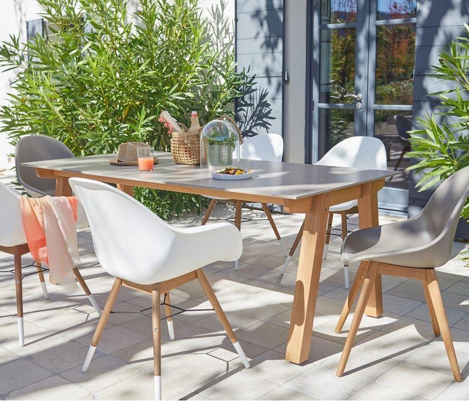 Chaises De Jardin Leroy Merlin Promo Lot De 2 Chaises En Resine Injectee St Tropez Taupe Pas Cher Prix Le Design Salon Table De Jardin Ensemble Table De Jardin