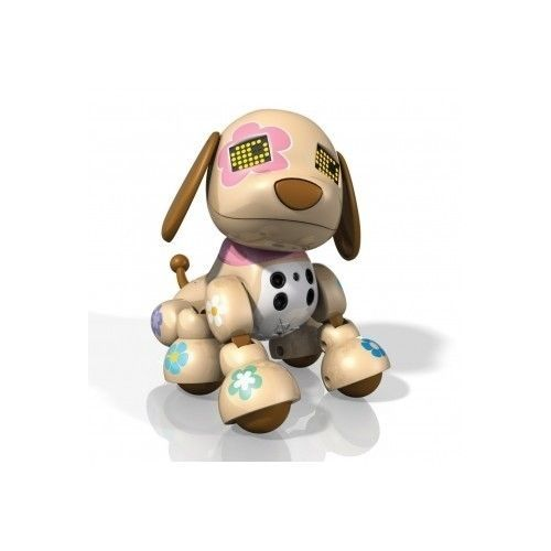 Zoomer Puppy Dog Zuppie Flora Brown Interactive Teacup Robot