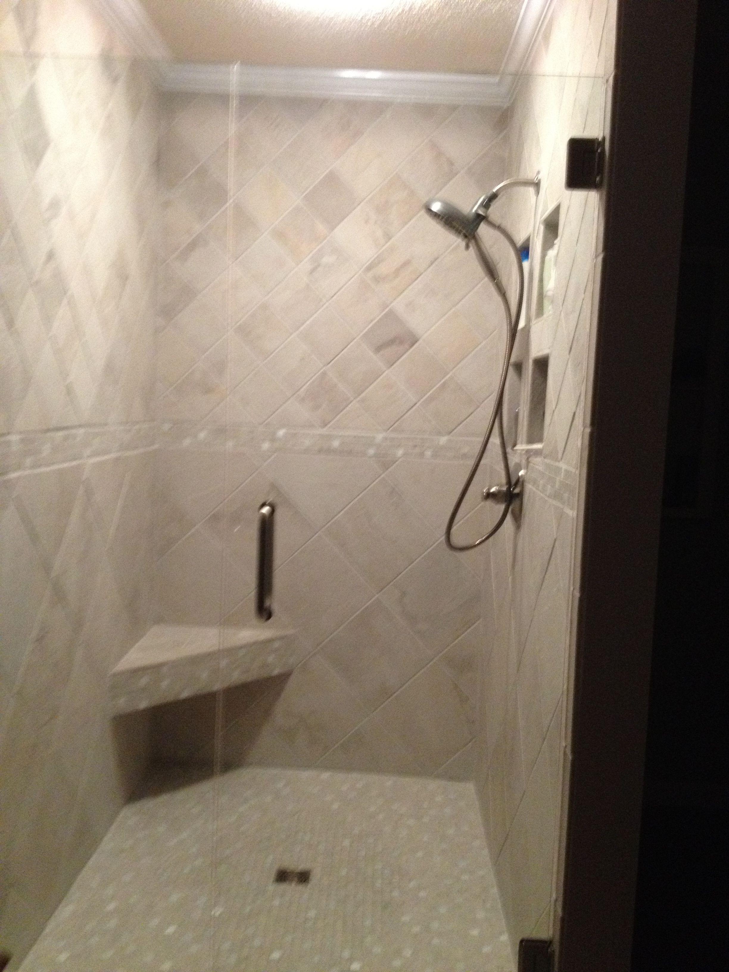 Bathroom Renovation Tile Shower Ivetta White Glazed Porcelain