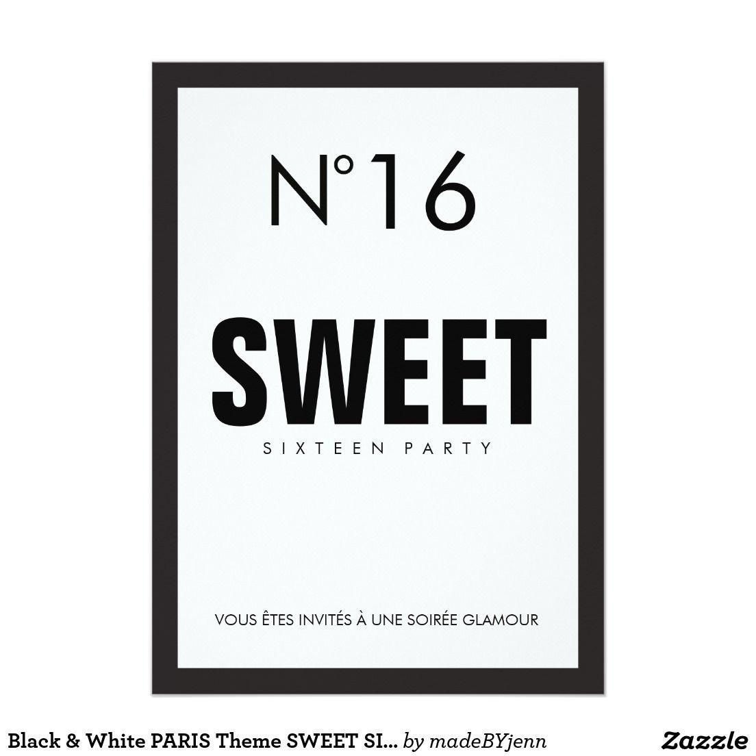 CHANEL PARTY IDEAS Black & White PARIS Theme SWEET SIXTEEN 16 ...