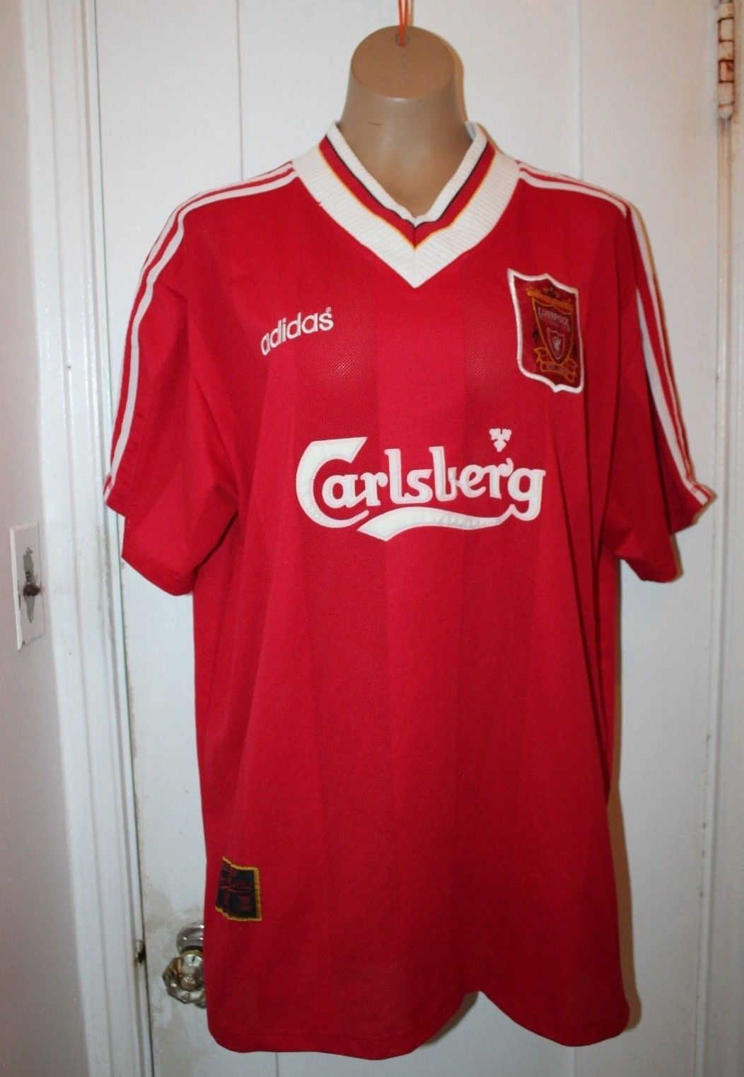ADIDAS Vintage 1995-96 Liverpool FC Home Soccer Football Jersey Shirt 2XL  XXL (eBay Link) 24469f477
