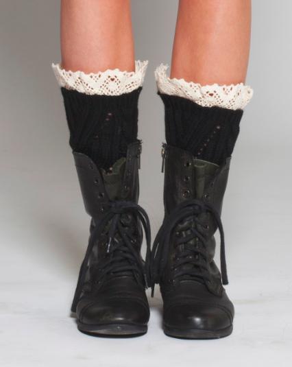 Black Laced Socks