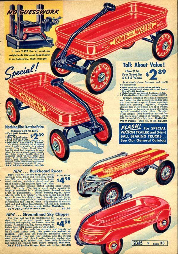 Vintage Toy Wagons Advertisement (1937) #vintagetoys #vintage games #1930s #vintageads #vintagecatalogs from RetroWaste.com #vintagetoys