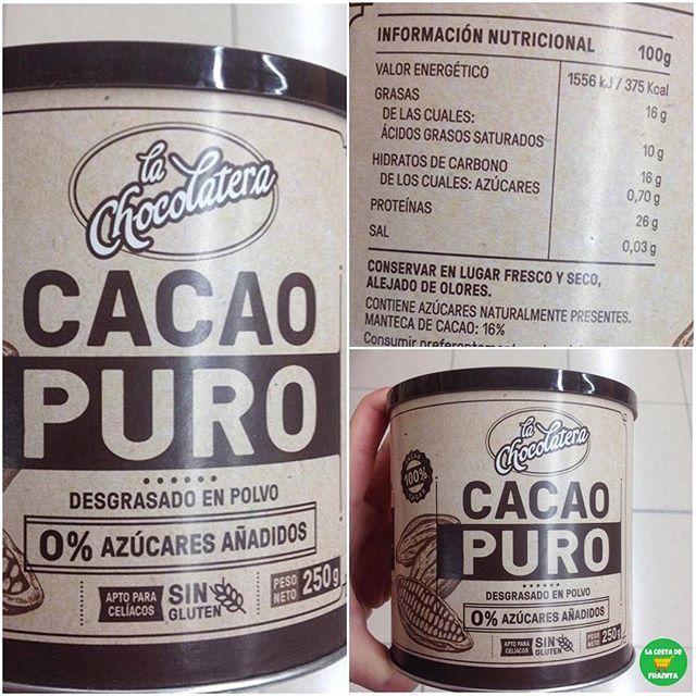 cocoa en polvo informacion nutricional