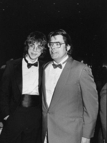 Stephen King y su hijo Joe. Dos galanes que dan mucho miedo.