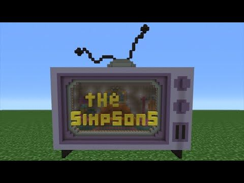 Minecraft Tutorial How To Make A Simpsons TV House YouTube Kid