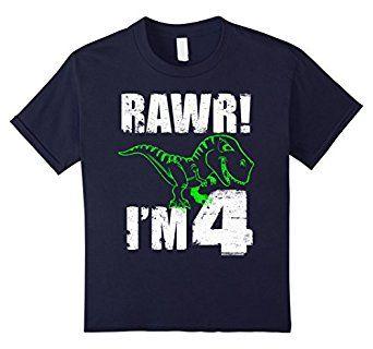 I Am 4 Fourth Birthday Blue Aged 4-5 Years Tshirt Boys Girls Girl Boy Number