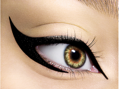 Black eyeliner, Egyptian style. Looks, Cabelo, Look