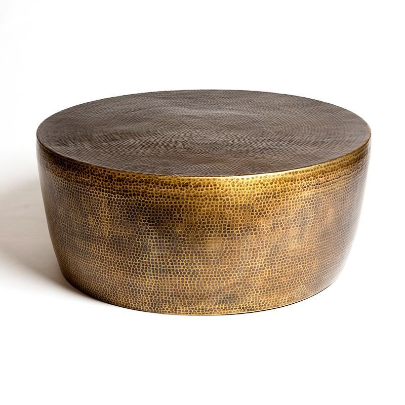 Ismar Hammered Brass Coffee Table Tonic Home Brass Coffee