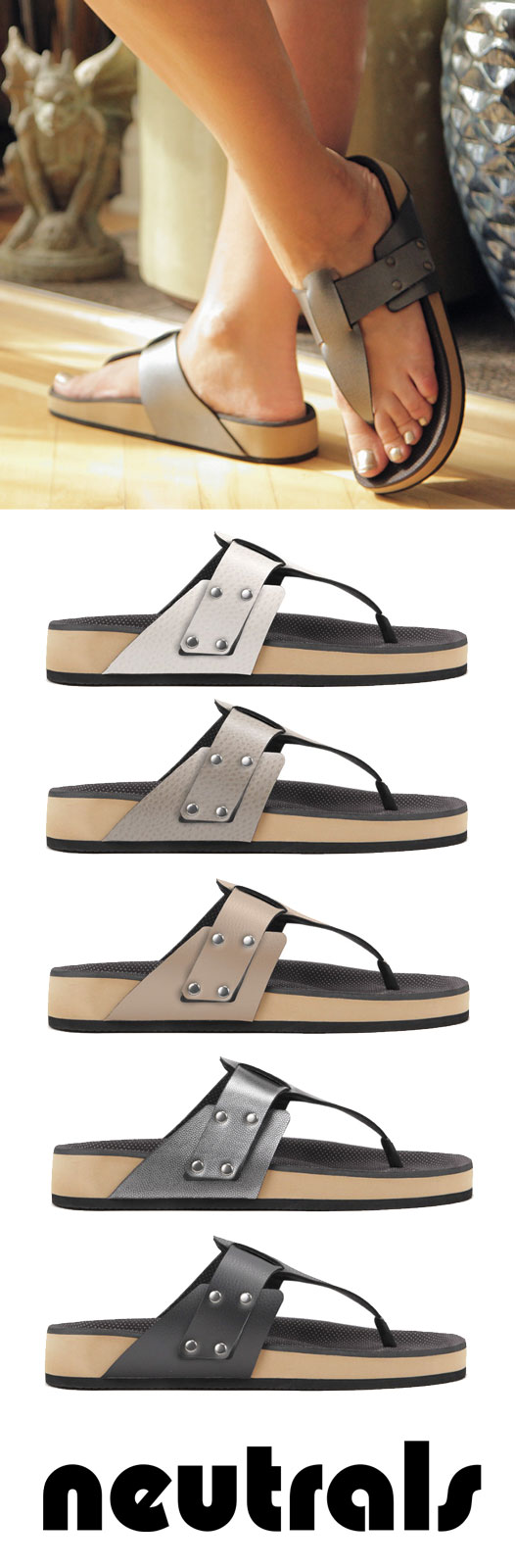 Custom Fit sandals. Arch support, eco