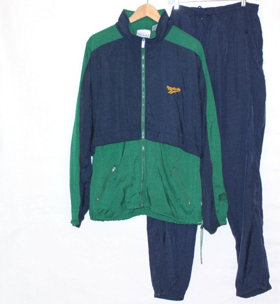 92ea5e6f793c1 True Vintage 80s 90s Men REEBOK Classic Nylon Wind Windbreaker Track ...