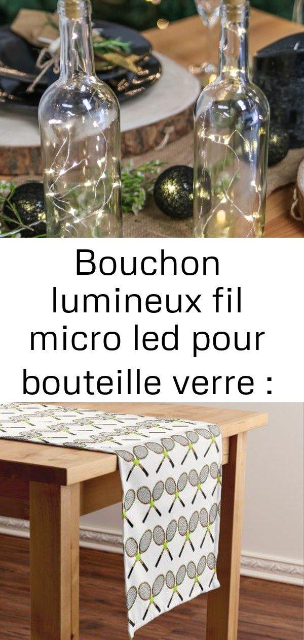 Bouchon lumineux fil micro led pour bouteille verre : décoration noël scandinave sur skylantern.f 12 #sapinnoel2019