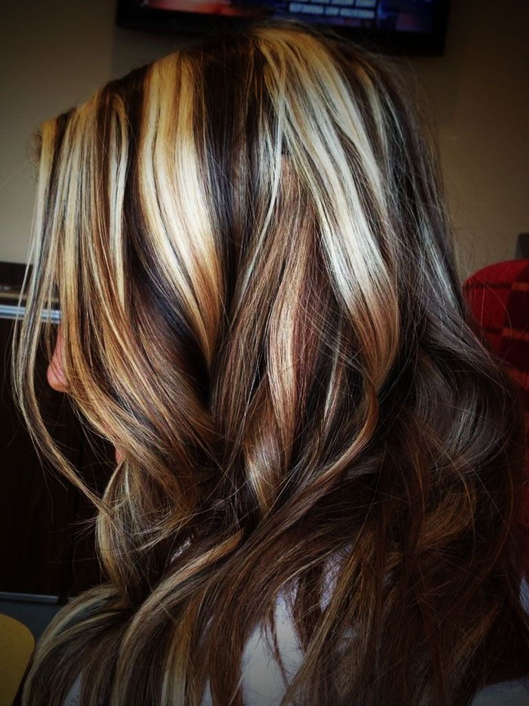 pics of blonde highlights red lowlights and black lowlights - my
