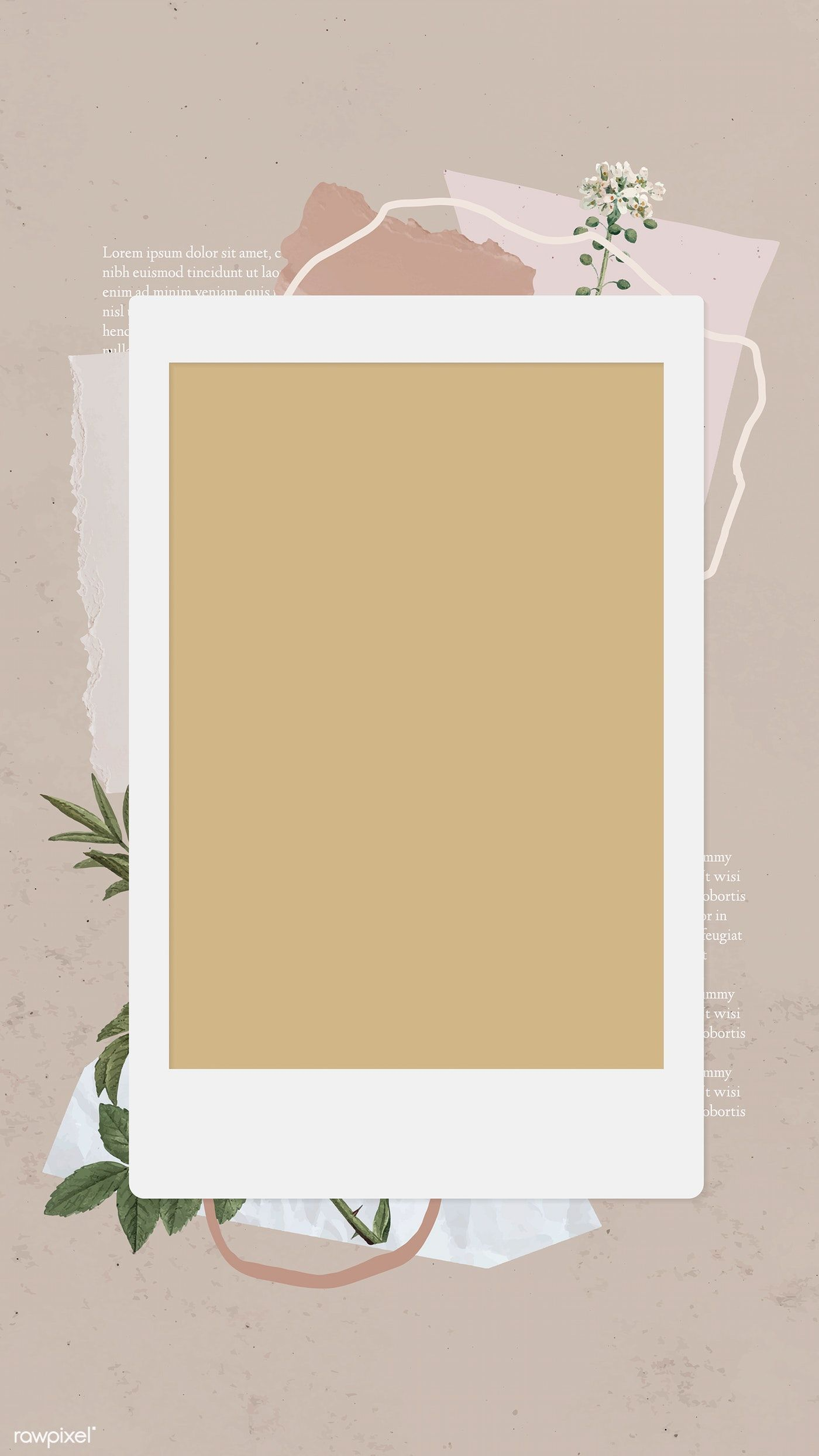 Download Premium Vector Of Blank Collage Photo Frame Template