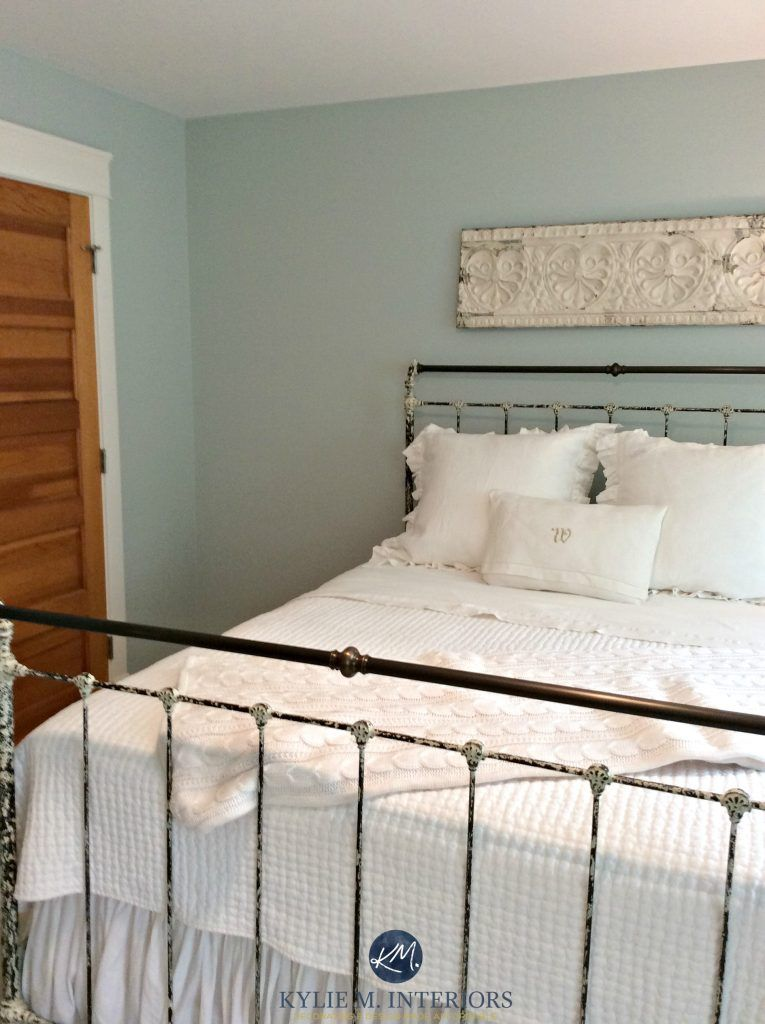 Benjamin Moore Woodlawn Blue One Of The Best Paint Colours Antique Metal Bed In Guest Bedroom Kylie M Interiors E Decor And Online Design Colour