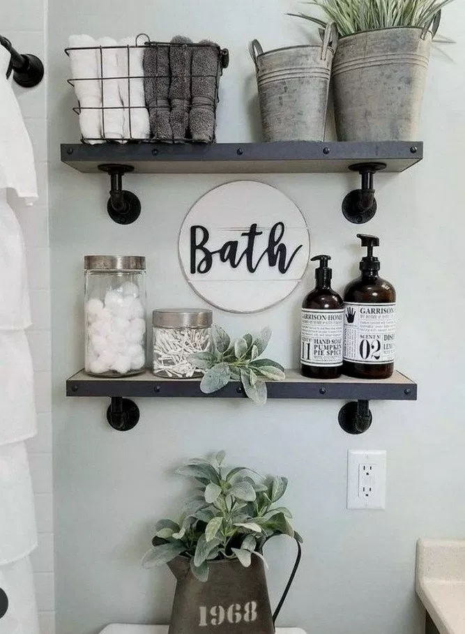 26+ How To Organise Your Bathroom With Farmhouse Bathroom Labels 4 26+ how to organise your bathroom with farmhouse bathroom labels 4 Bathroom Decoration cute bathroom decor