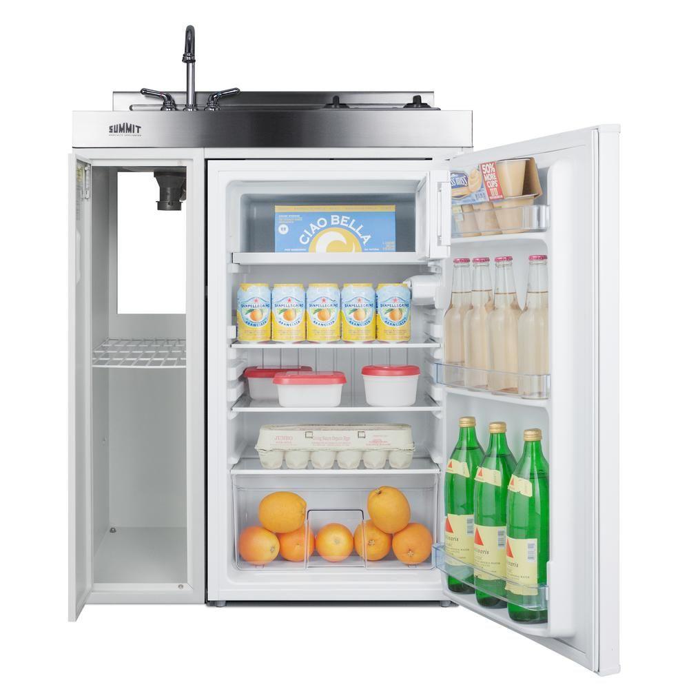 Summit Appliance 30 In Compact Kitchen In White C30elglass Mini