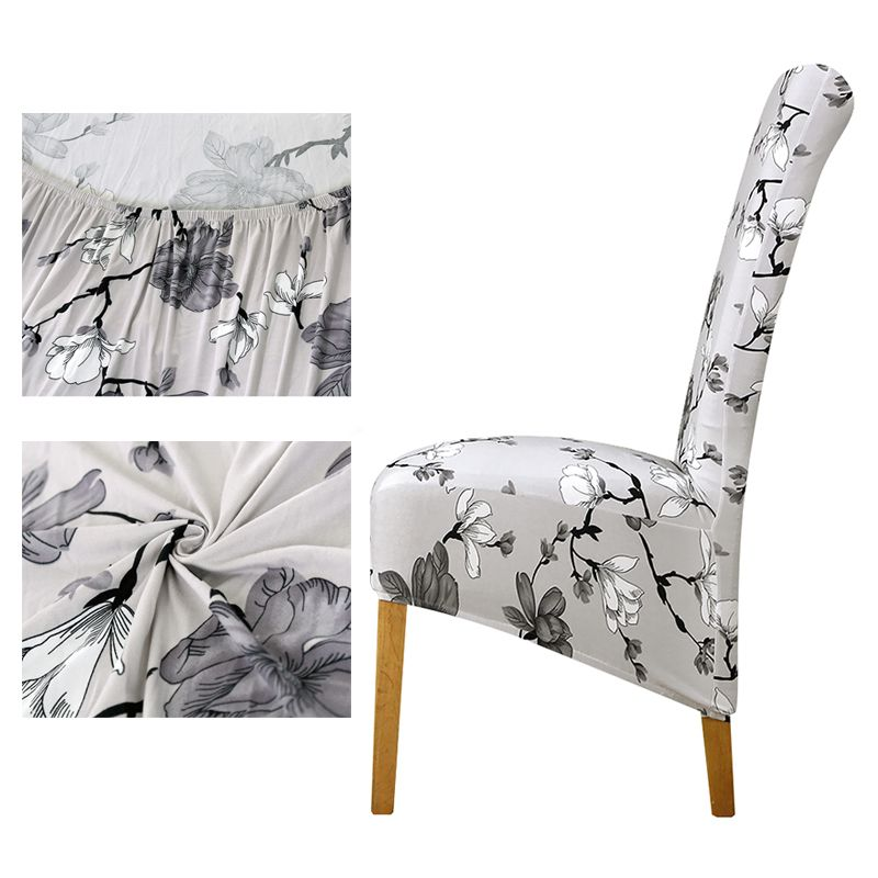Long Back Chair Cover European Style Dining Room Chair Covers