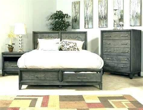 Distressed White Washed Furniture Rustic Bedroom Grey Wash Gray
