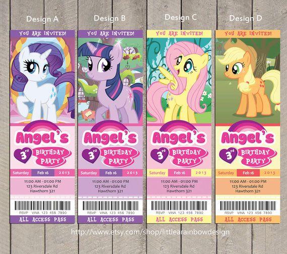 my little pony invitation    my little pony by