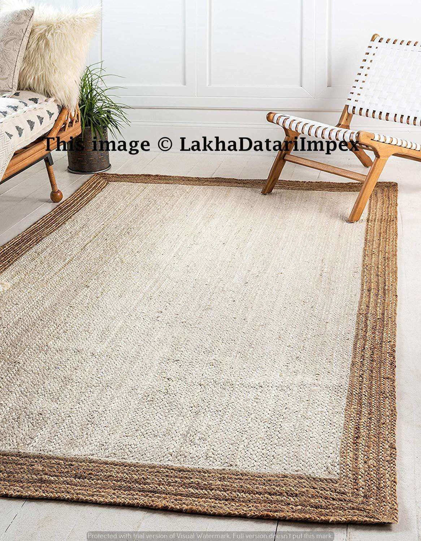 Indian Braided Floor Jute Rug Natural