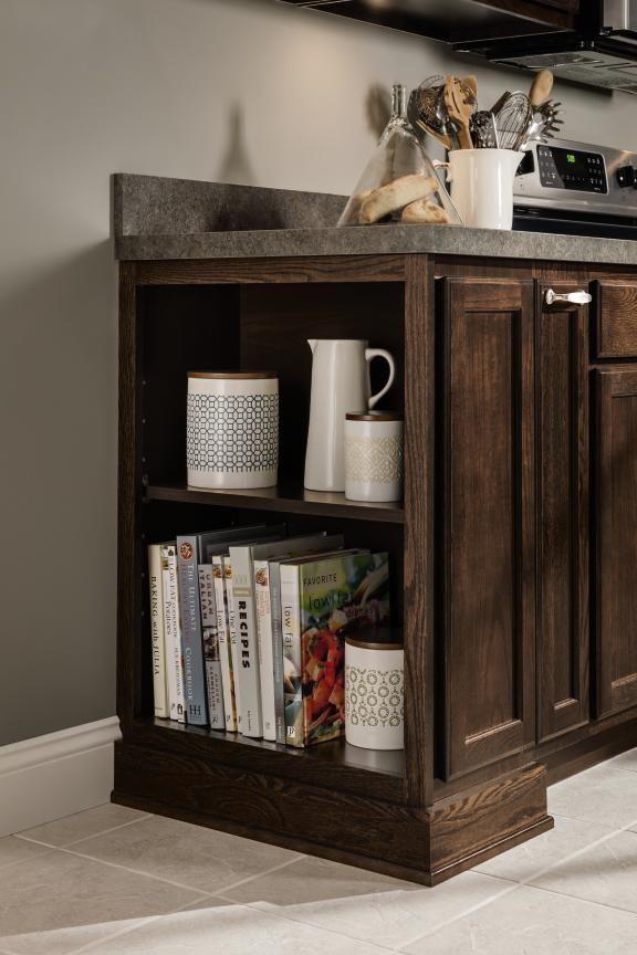 Aristokraft #Cabinet's shallow depth open shelves let you ...