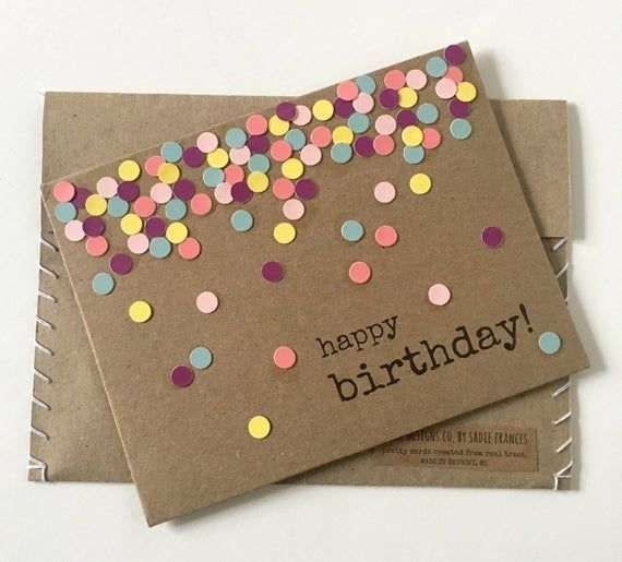 #Birthday #Boyfriend #card #Cards #Confetti #Gift #gifts for birthday #Greeting #handmade #Paper #Recycled #repurposed #Unique