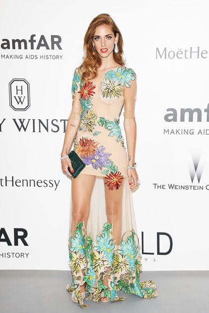 bb34ef03666b3 See All of the Best Red Carpet Looks from Cannes—Chiara Ferragni in  Blumarine