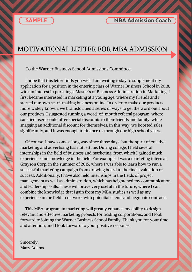 Essay writing mba admission