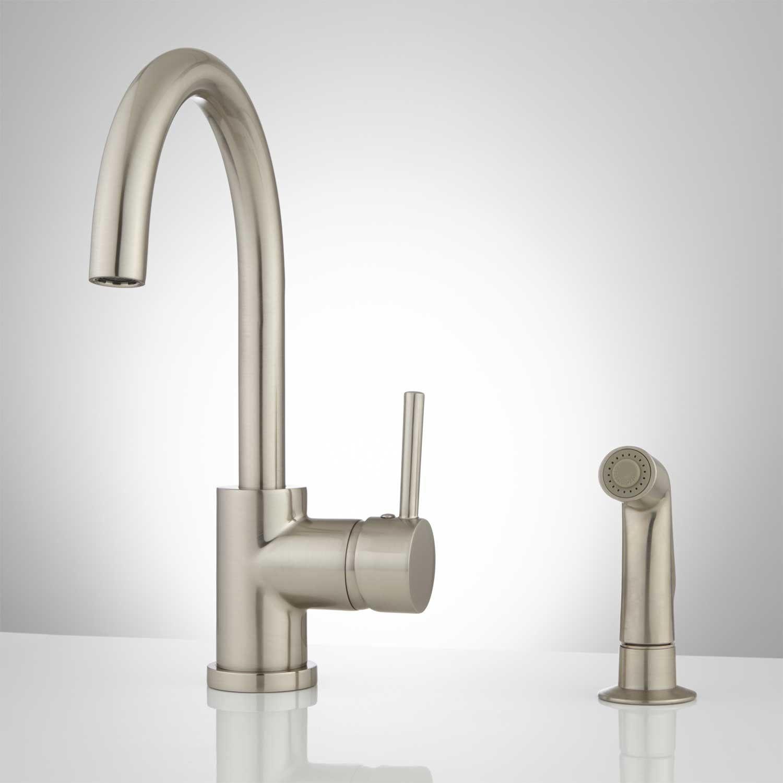 Kitchen Gooseneck Faucet With Hand Sprayer | http://latulu.info/feed ...