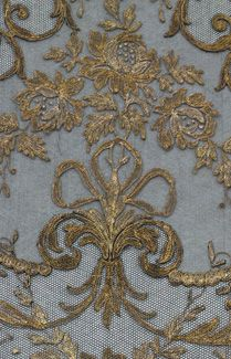 Beautiful Blue Fabric With Gold Embroidery    For Furniture, Draperies,  Pillows, Even