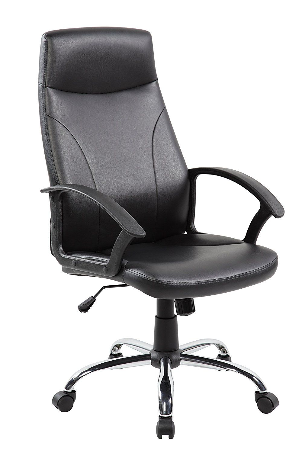 Anji high back executive black leather computer office