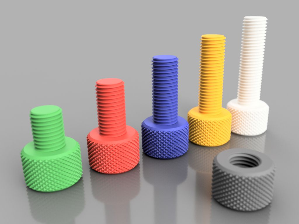 Knurling bolt and nut by akira3dp0 Thingiverse Useful