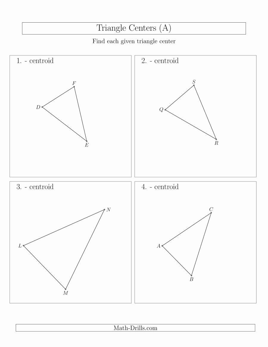 Centers Of Triangles Worksheet Awesome Contructing Centroids For Acute Triangles A In 2020 Triangle Worksheet Worksheets Persuasive Writing Prompts