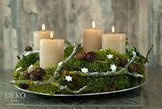 Photo of DIY: Adventskranz aus Naturmaterial mit Moos & Zweigen