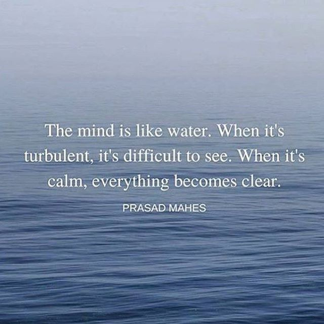 Water Quotes New The Mind Is Like Waterwhen It Is Turbulent It Is Difficult To See