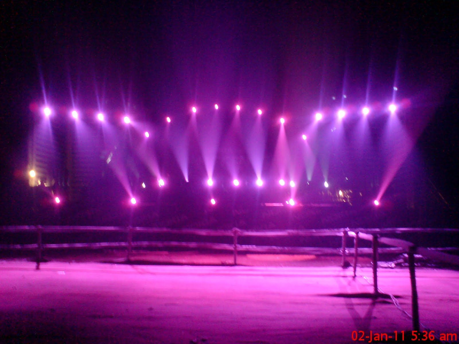 Stage lighting design application and decorative stage lighting