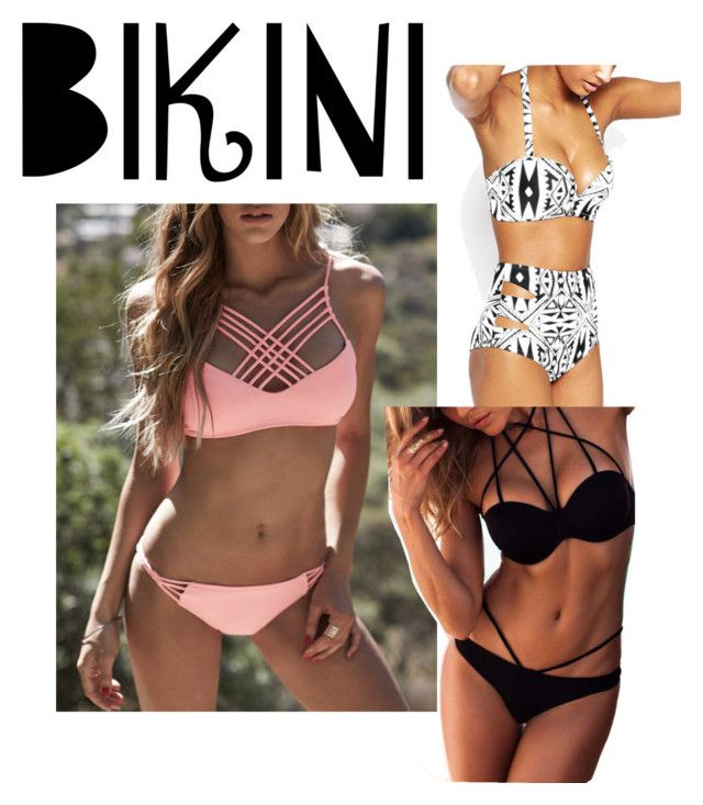 """""""bikinis"""" by sasa93430 ❤ liked on Polyvore featuring WithChic, stylishcurves and plussizeswimsuit"""