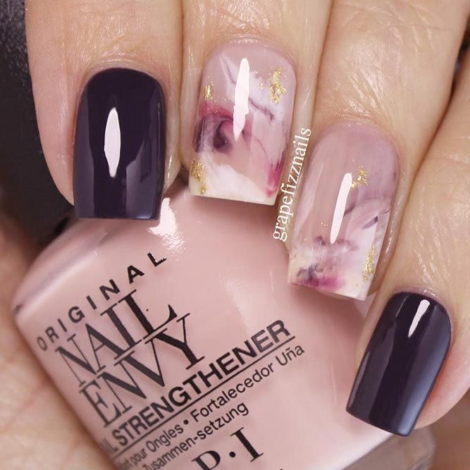 27 Ideas For Gorgeous Nails With Gold Foil Designs Nail And Easy