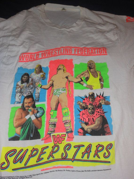 1991 xl WWF Wrestling t shirt - Ultimate Warrior - Legion ...