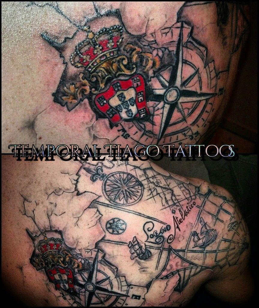 3d Portuguese Nautic Map Totally Customise By Me Portuguese Tattoo Tattoos Usa Tattoo