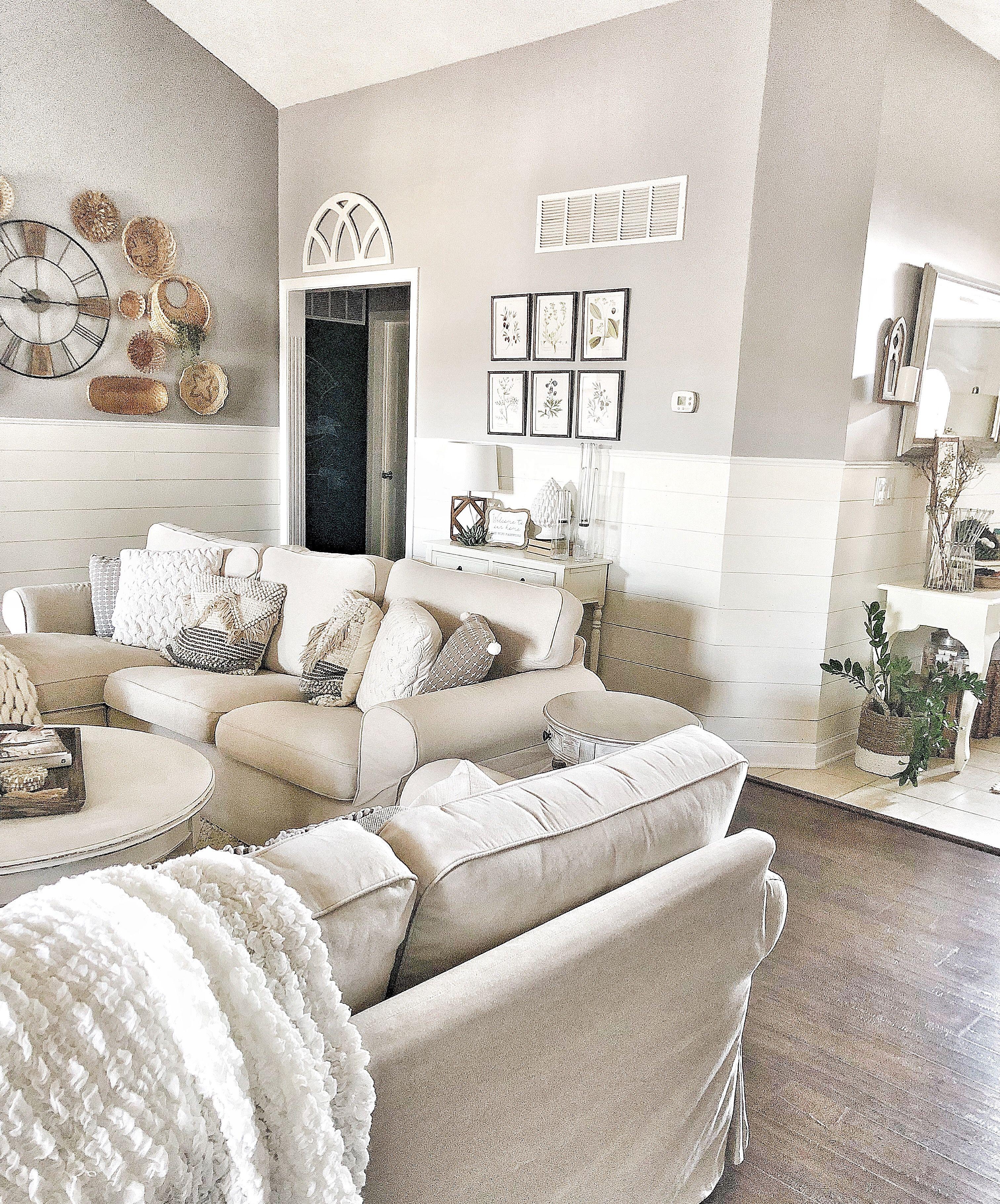 Cottage Farmhouse Living Room Shiplap Basket Wall And Ek