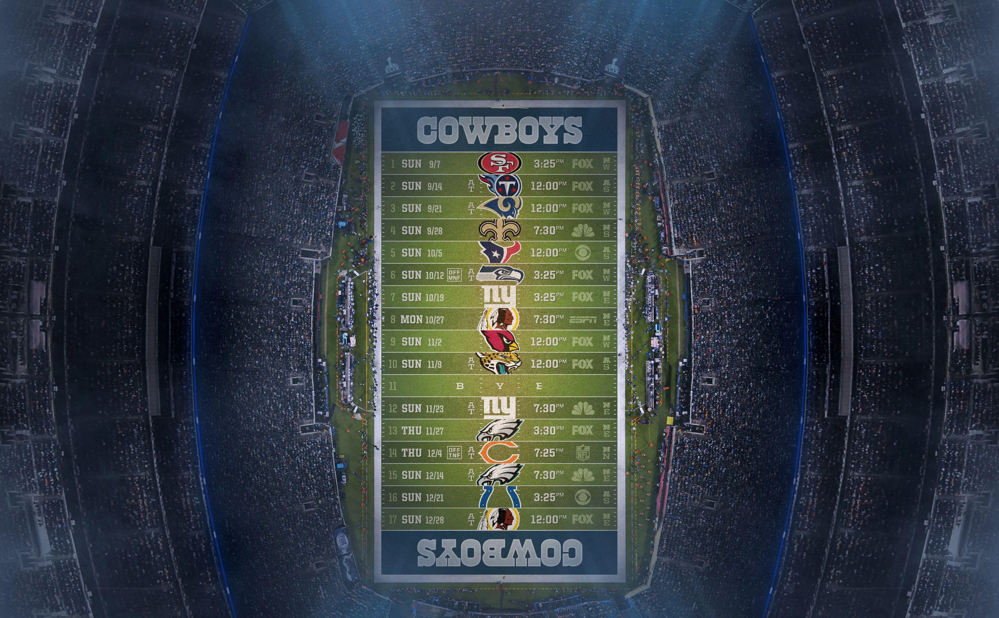 dallas cowboys schedule wallpaper