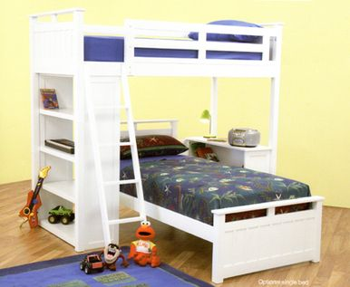 Bunk Bed Space Saver scarborough space saver bunk bed features loft bed, detachable