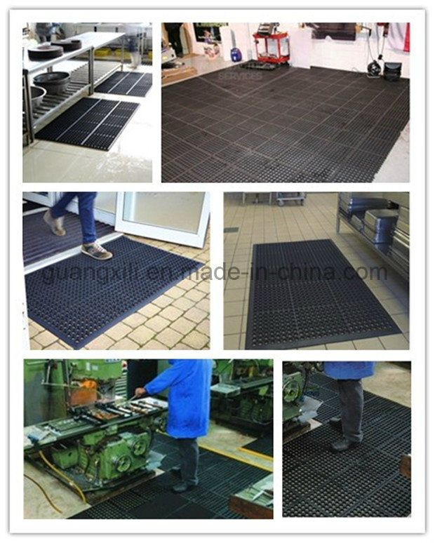 Anti Slip Kitchen Mats/Drainage/Oil Resistance Hotel Rubber Mats