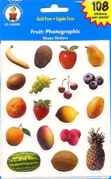 Fruit > Fruit Stickers - Carson-Dellosa: Stickers Galore  $2.19