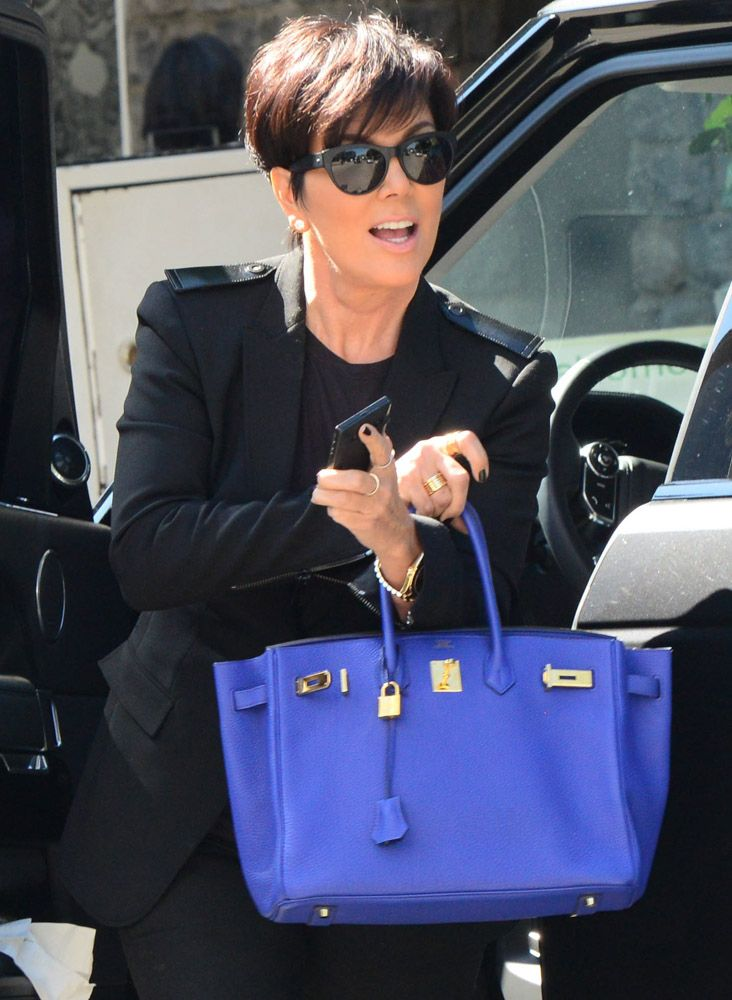 f0613ea66e Check out Kris Jenner s Hermes bag collection with an estimated worth of  half a million dollars Hermes-Electric-Blue-Birkin